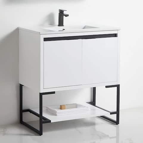 "Watqen 30"" Single Bathroom Vanity with Top"