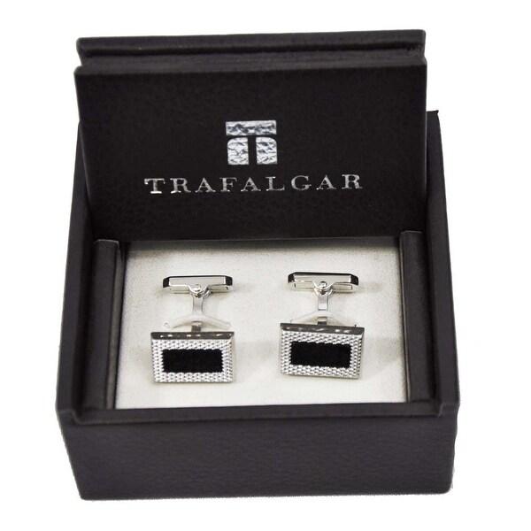 Trafalgar Onyx Cuff Links Silver/Black
