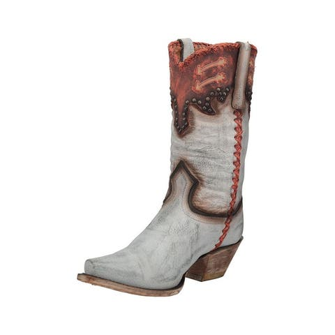 "Dan Post Western Boots Womens 11"" Luciana Pull On Gray"