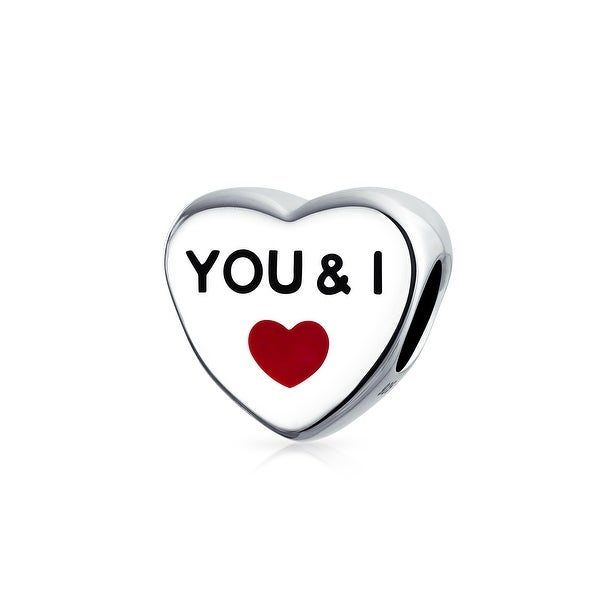 dc028e3ea8 Shop Heart Shape You And I Love Couples Charm Bead For Girlfriend For Women 925  Sterling Silver Fits European Bracelet - On Sale - Free Shipping On Orders  ...