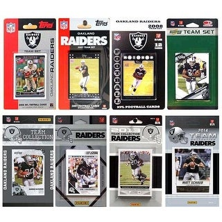 NFL Oakland Raiders 8 Different Licensed Trading Card Team Sets