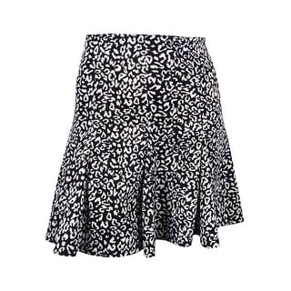 Marilyn Monroe Juniors' Animal Print Flare Skirt - L