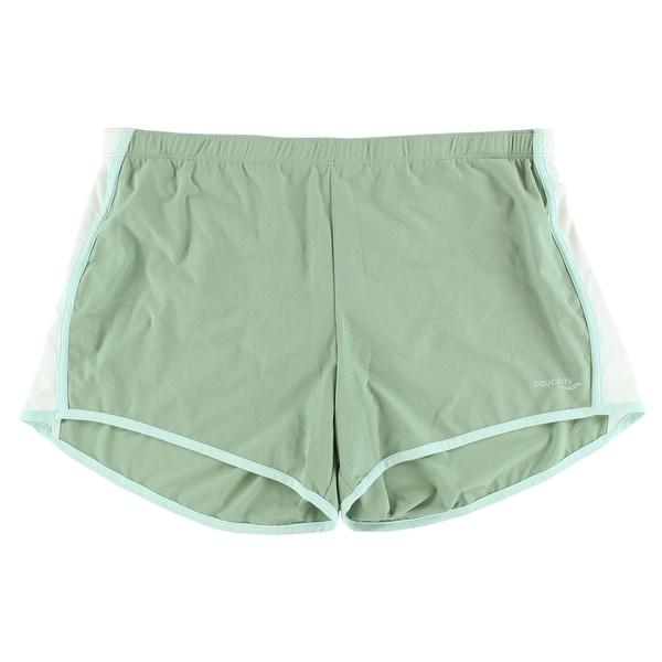 cae0d838d1 Saucony Womens Run Lux Shorts Green - Green/White - L