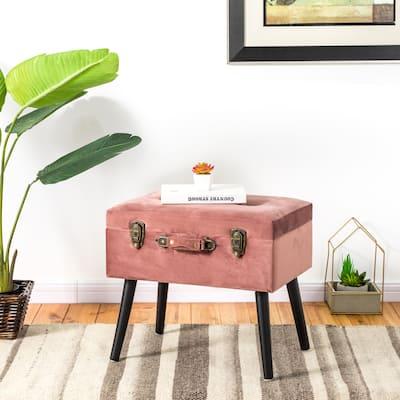 Carson Carrington Kammarbo Velvet Upholstered Storage Stool