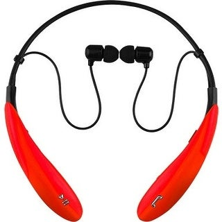 IQ Sound IQ-127BTRD IQ Sound Bluetooth Wireless Headphones and Mic - Stereo - Red - Wireless - Bluetooth - 32.8 ft - 16 Ohm - 20
