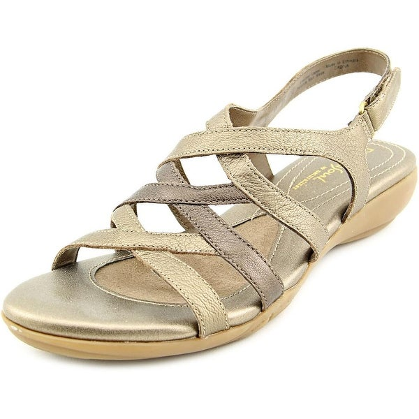 NaturalSoul by Naturalizer Cadiva Women Open-Toe Leather Bronze Slingback Sandal
