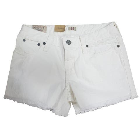 Polo Ralph Lauren Girl's Denim Jean Shorts Frayed Hem Kids Clothing