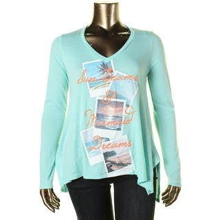 Belle du Jour Womens Juniors Tunic Top Graphic Hi-Low|https://ak1.ostkcdn.com/images/products/is/images/direct/656d4e2c690c24defb2ef4b4309d47d00ff413f8/Belle-du-Jour-Womens-Juniors-Graphic-Hi-Low-Tunic-Top.jpg?impolicy=medium