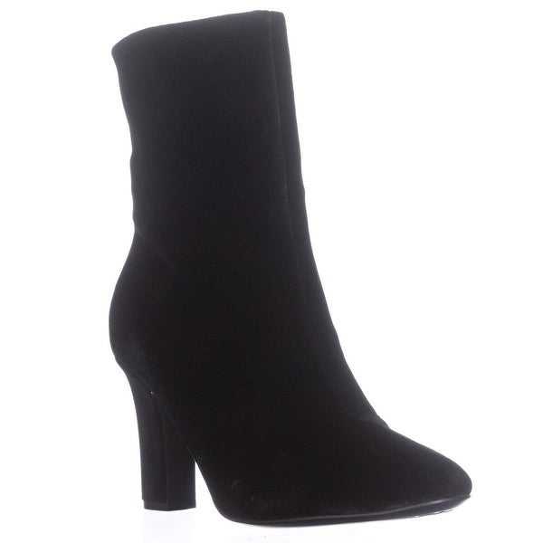 Lauren by Ralph Lauren Bridgett Ankle Booties, Black Velvet - 8.5 us / 39.5 eu