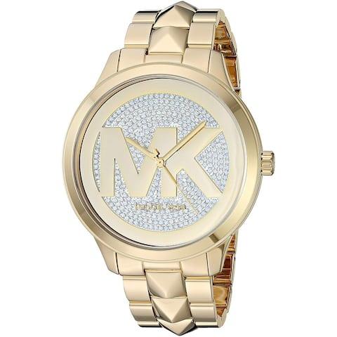 Michael Kors Women's MK6714 Runway Mercer Gold Stainless Steel Watch