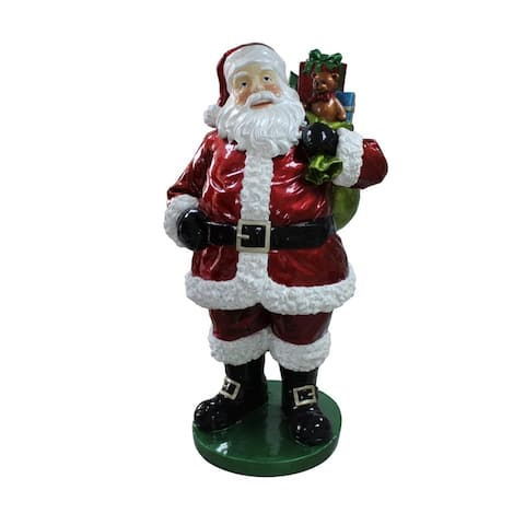 """63"""" Red and White Standing Santa Claus with Presents Christmas Decor"""