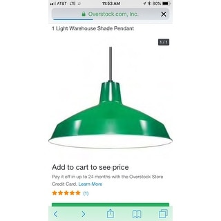 Shop 1 Light Warehouse Shade Pendant Free Shipping On Orders Over