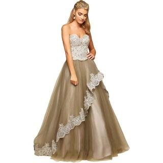 Mac Duggal Womens Tulle Prom Formal Dress - 4