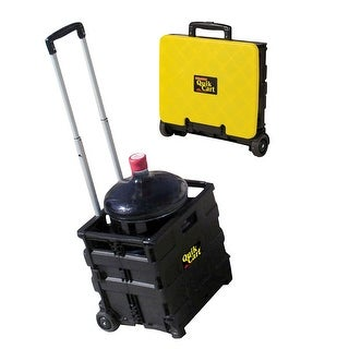 Ultra Compact Collapsible Rolling Trolley Storage Bin Quick Cart