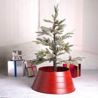 "Glitzhome Christmas 22""D Metal Tree Collar"