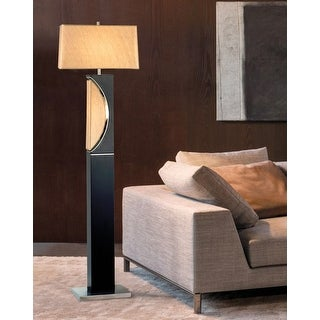 Half Moon Dark Brown Floor Lamp