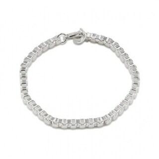 Silvertone Retro Chain Bracelet