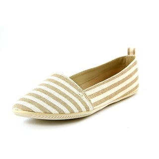 Mia Harry Women Round Toe Canvas Tan Flats