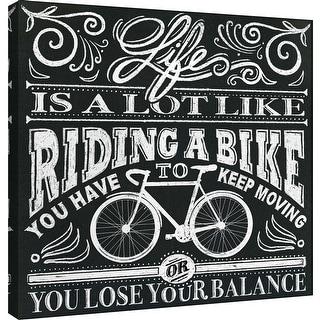 "PTM Images 9-101000  PTM Canvas Collection 12"" x 12"" - ""Honest Words - Bike"" Giclee Life Art Print on Canvas"
