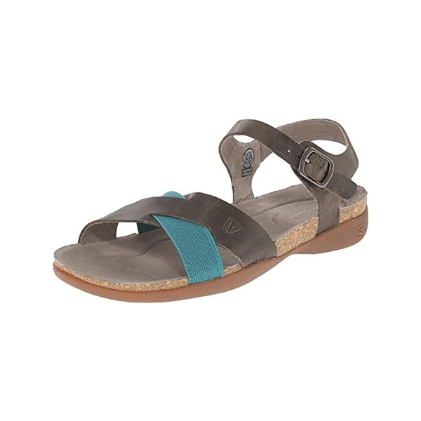 Keen Womens Dauntless Ankle Flat Sandals Leather Colorblock - 5 medium (b,m)