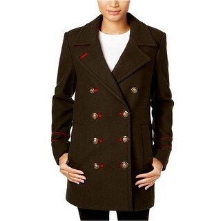 BCBGeneration Women's Wool Olive Peacoat