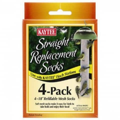 Kaytee 100501109 Straight Replacement Finch Sock, 4-Pack