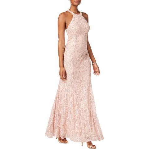 NW Nightway Womens Evening Dress Lace Sequined