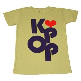 K-Pop Heart Yellow-Green Shirt