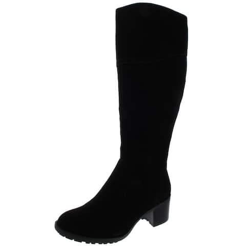 Easy Spirit Womens Grazes Knee-High Boots Wide Calf Suede