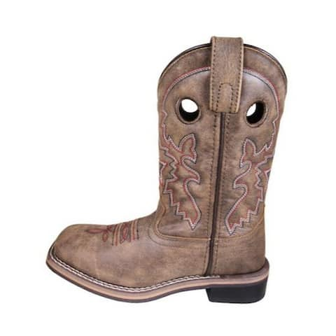 Smoky Mountain Western Boots Boys Canyon Leather Brown