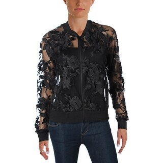 T Tahari Womens Britney Jacket Lace Sheer