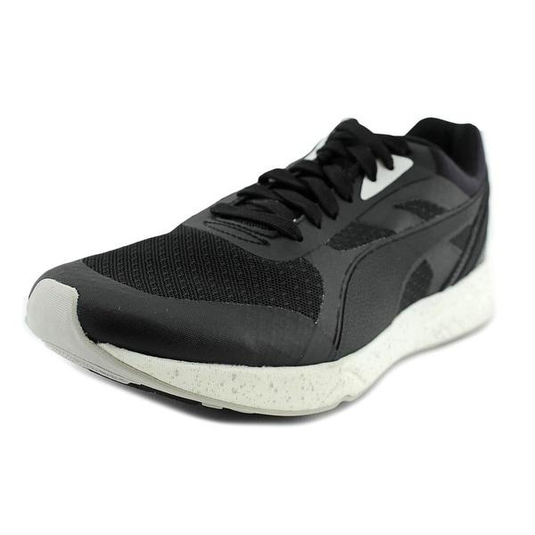 Puma 698 Ignite Men Round Toe Canvas Black Running Shoe