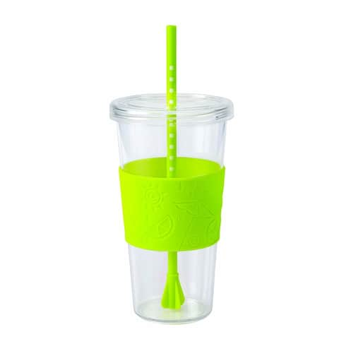 3614ad68e37 Copco 2510-0177 Sierra Single Wall Tritan Cold Tumbler with Removable Straw  and Spill Resistant