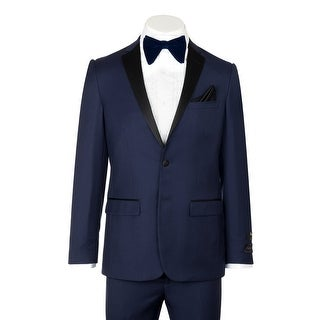 Sienna, Slim Fit, French Blue, Pure Wool Tuxedo by Tiglio Luxe TIG5966