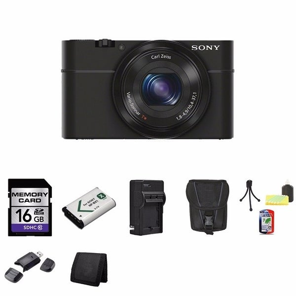 Sony Cyber-shot DSC-RX100 20.2MP Digital Camera 16GB Bundle 2 (Black)