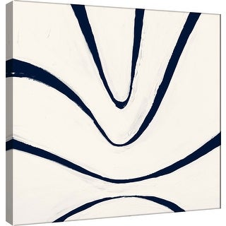 """PTM Images 9-100908  PTM Canvas Collection 12"""" x 12"""" - """"Indigo B"""" Giclee Abstract Art Print on Canvas"""