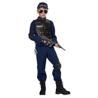 Kids Junior SWAT Police Halloween Costume