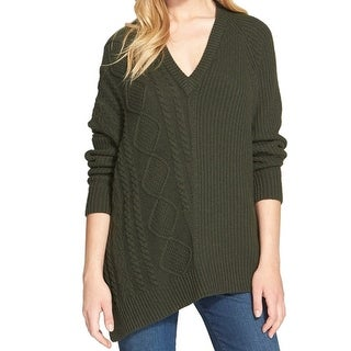 Autmn Cashmere NEW Green Women's Size Medium M V-Neck Cashmere Sweater