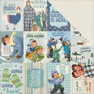 """Alpine Double-Sided Cardstock 12""""X12""""-#7 Cut-Apart 3""""X4"""" Cards"""