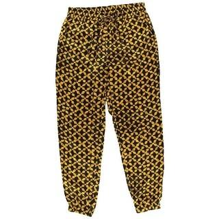 MICHAEL Michael Kors Womens Satin Pattern Jogger Pants - 6