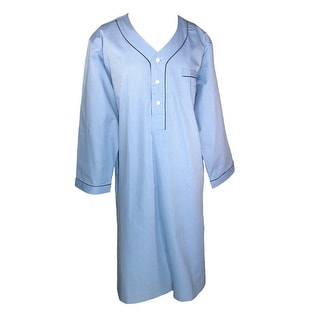 Majestic International Men's Basic Long Sleeve Nightshirt