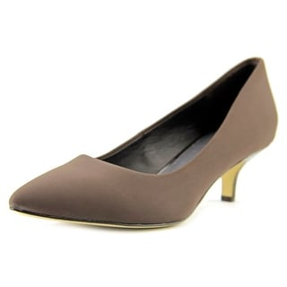 Donald J Pliner Gali-D Women Pointed Toe Canvas Brown Heels