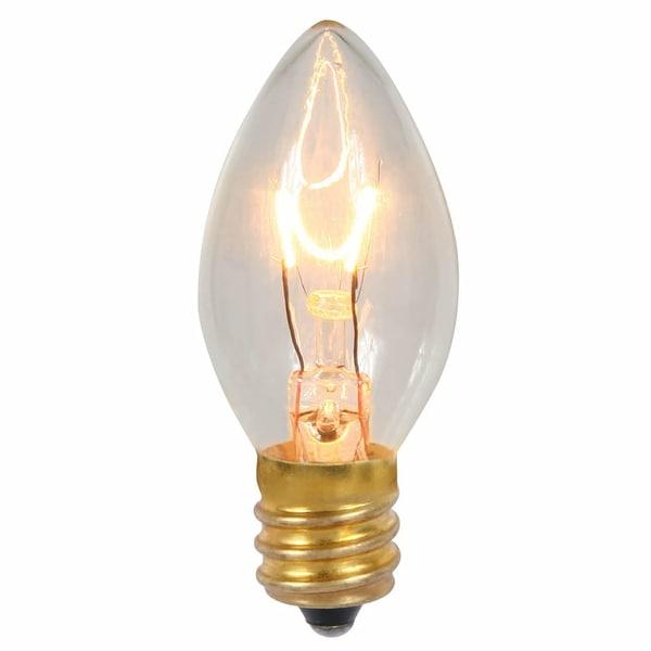 C7 Transparent Clear 130V 5W Bulbs