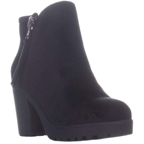 Call It Spring Jolles Lug Sole Ankle Boots, Black Velvet, 8.5 US / 39 EU