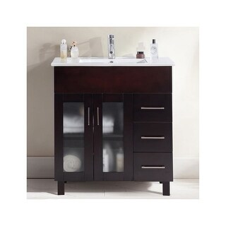 """Miseno MV-NUO32 Nuovo 32"""" Free Standing Vanity with Vanity Top and Undermount Sink (4 options available)"""