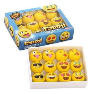 Emoji Universe 2 Ply Professional Practice Novelty Golf Balls 12 Emoji Balls