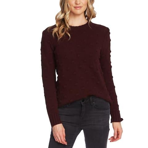 Vince Camuto Womens Crewneck Sweater Popcorn Stitch Textured