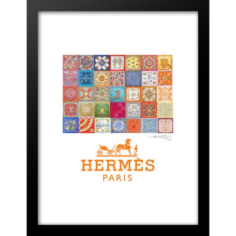 "Fairchild Paris - HERMES QUILT - Framed Wall Art - 14"" x 18"""
