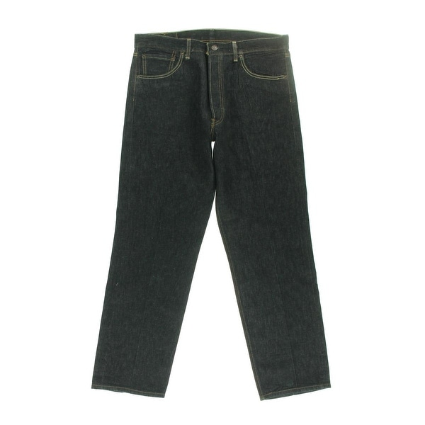 344f6e7ad38 Levis Straus Mens 501 Straight Leg Jeans Shrink To Fit Button Fly - 30 32