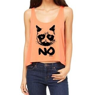 Grumpy Cat Grumpy No Women's Coral Funny T-shirt